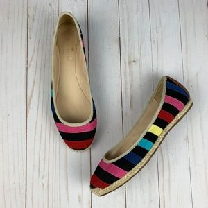 Kate Spade Vivi Rainbow Espadrille Flats Size 6.5